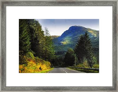 Way To Rest And Be Thankful. Scotland Framed Print by Jenny Rainbow