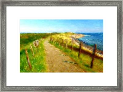 Way To The Beach Framed Print by Steve K
