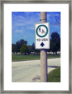 Way To The Usa Framed Print