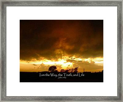 Way Truth Life Framed Print by Robyn Stacey