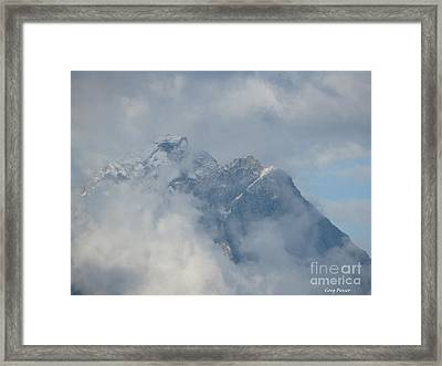Framed Print featuring the photograph Way Up Here by Greg Patzer