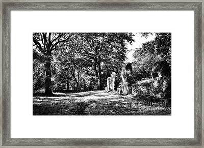 Wayland's Smithy Framed Print by Tim Gainey