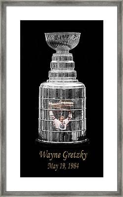 Wayne Gretzky 1 Framed Print by Andrew Fare