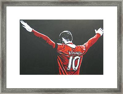 Wayne Rooney - Manchester United Fc 2 Framed Print by Geo Thomson
