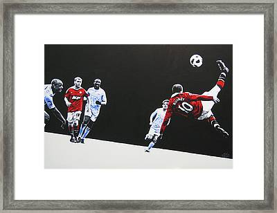 Wayne Rooney - Manchester United Fc Framed Print by Geo Thomson
