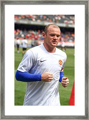 Wayne Rooney 5 Framed Print by Keith R Crowley