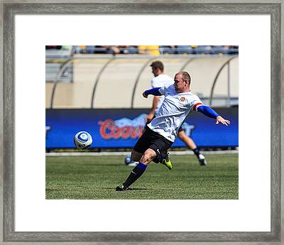 Wayne Rooney Framed Print by Keith R Crowley