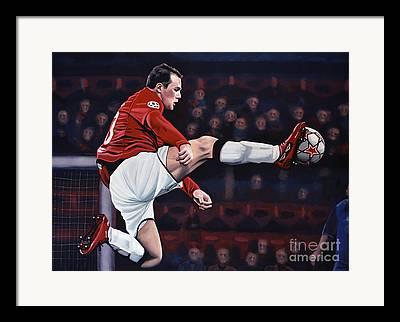 Wayne Rooney Framed Prints