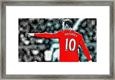 Wayne Rooney Poster Art Framed Print by Florian Rodarte