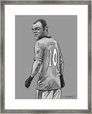 Wayne Rooney Framed Print