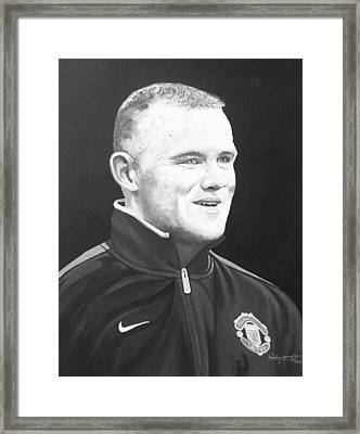 Wayne Rooney Framed Print by Stephen Rea