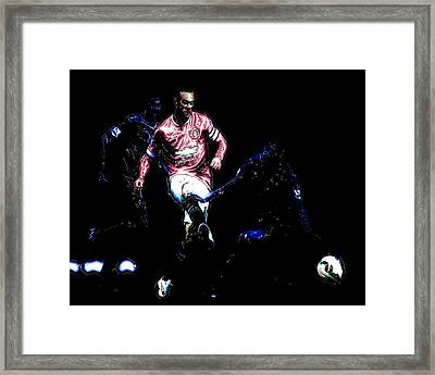 Wayne Rooney Working Magic Framed Print by Brian Reaves