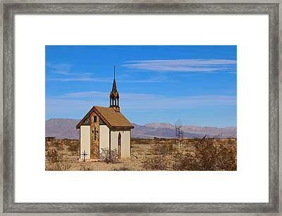 Wayside Chapel Framed Print