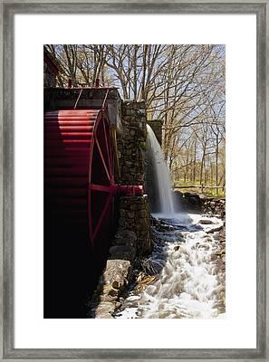 Wayside Grist Mill 2 Framed Print by Dennis Coates