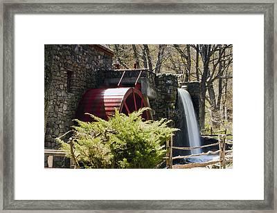 Wayside Grist Mill 3 Framed Print by Dennis Coates