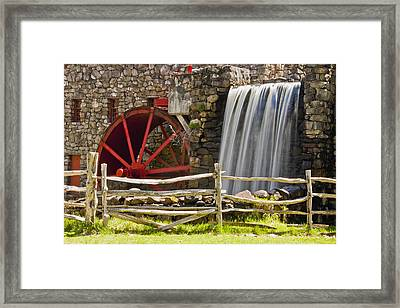 Wayside Grist Mill 4 Framed Print by Dennis Coates