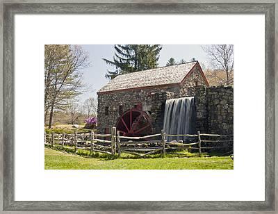 Wayside Grist Mill 5 Framed Print by Dennis Coates