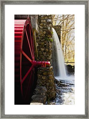 Wayside Grist Mill Framed Print by Dennis Coates