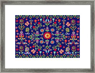 Wayuu Tapestry Framed Print