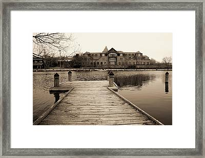 Wayzata Dock Framed Print