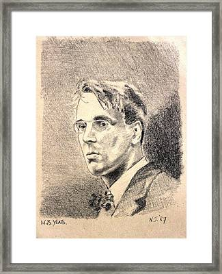W.b. Yeats Framed Print by John  Nolan