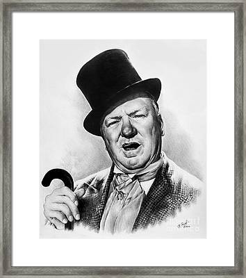 Wc Fields My Little Chickadee Framed Print by Andrew Read