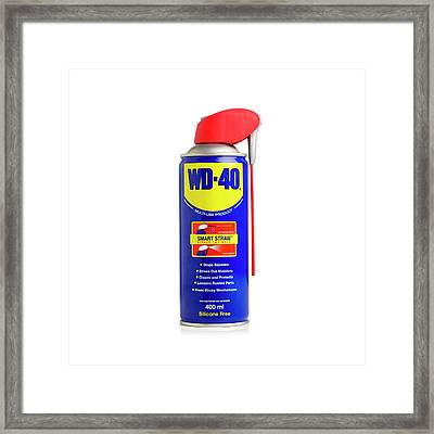 Wd40 Lubricant Framed Print