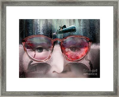 We All Live In A Gray Submarine Framed Print by Reggie Duffie
