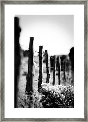 We Are All Fenced In Framed Print