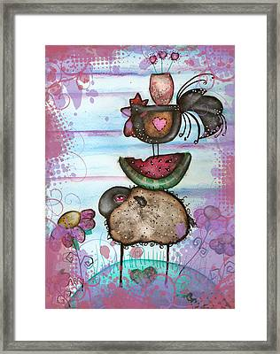we are all Friends here Framed Print by  Abril Andrade Griffith