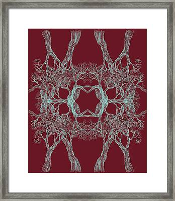 We Are All Made Of Stars Tree 12 Hybrid 1 Red Framed Print