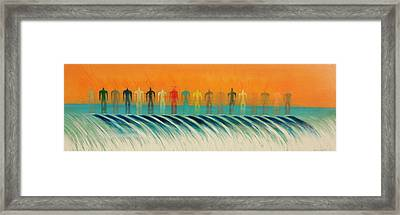 We Are All The Same Framed Print by Tim Mullaney