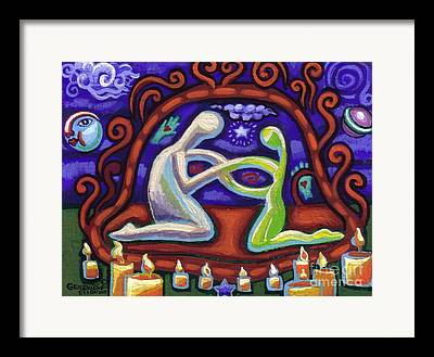 Shower Curtain Paintings Framed Prints