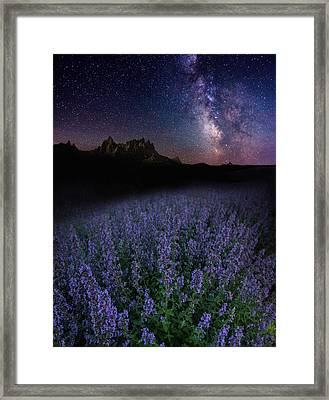 We Are Just Visitors Here  Framed Print by Aaron J Groen