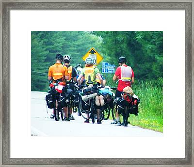 We Are Lost. No We're Not.  We Are In Maine ...maybe? Framed Print by Lizi Beard-Ward