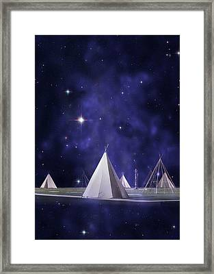 We Are One Tribe Framed Print by Laura Fasulo