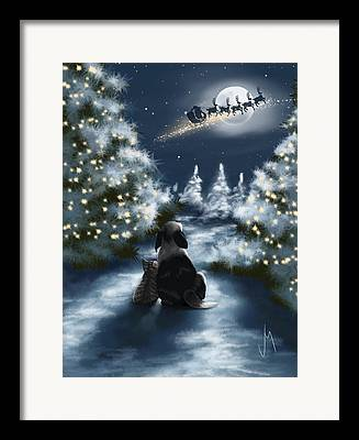 Snowscape Paintings Framed Prints