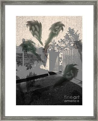 We Are The Ghosts Of Today. Will Call You Tomorrow. Framed Print