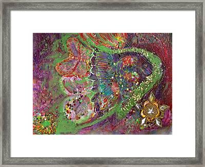 We Be-ling Together Framed Print by Anne-Elizabeth Whiteway