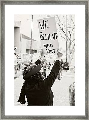 We Believe Framed Print by Scott Pellegrin