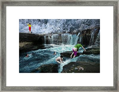 We Call It Happiness Framed Print by Benisius Anu