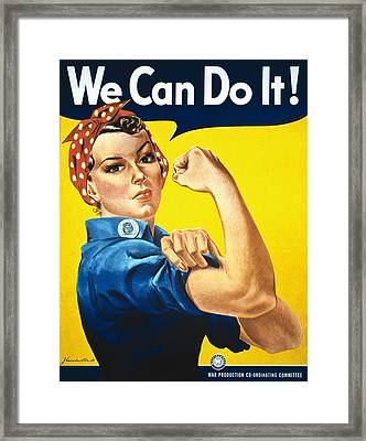 'we Can Do It' Wwii Poster Framed Print
