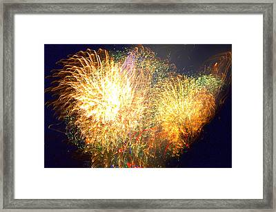 We Can't Stop The Fire Framed Print by Tim Leung