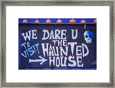 We Dare U Framed Print