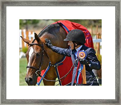 Framed Print featuring the photograph We Did It by Barbara Dudley