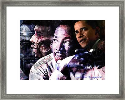 We Do Not Believe Framed Print by Lynda Payton