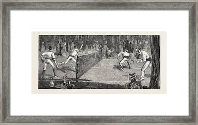 We Find A Jolly Place In The Cemetery Fur Lawn-tennis Framed Print