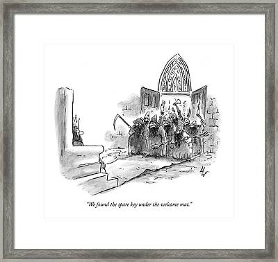 We Found The Spare Key Under The Welcome Mat Framed Print