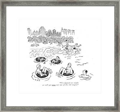 We ?gured We Might As Well Get Some Use Framed Print by Robert J. Day