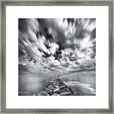 We Have Had Lots Of High Clouds And Framed Print by Larry Marshall